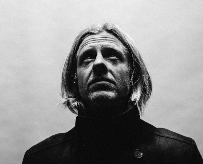 black and white photo cover of Jon Foreman