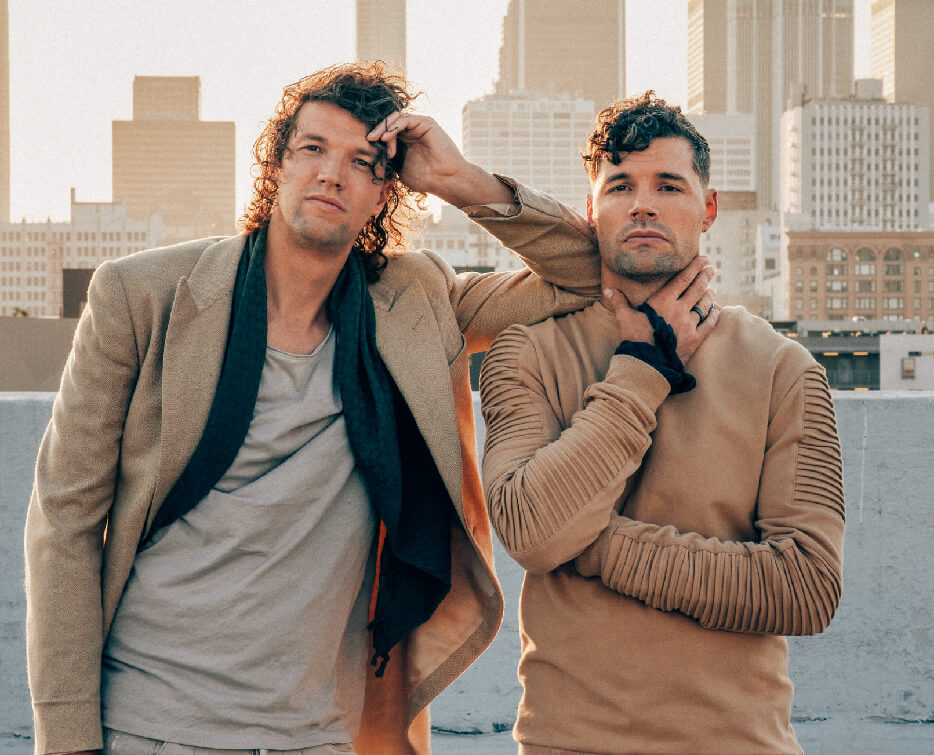 Image of the band For King and Country in downtown Los Angeles