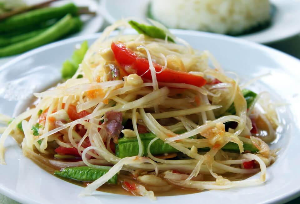 menu item Green Papaya Salad