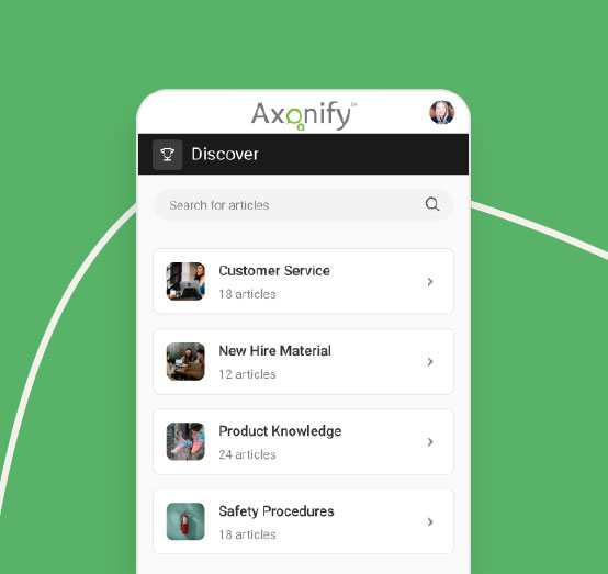 Axonify Discover zone image
