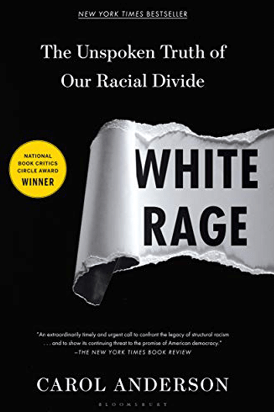 White Rage book cover, author Carol Anderson