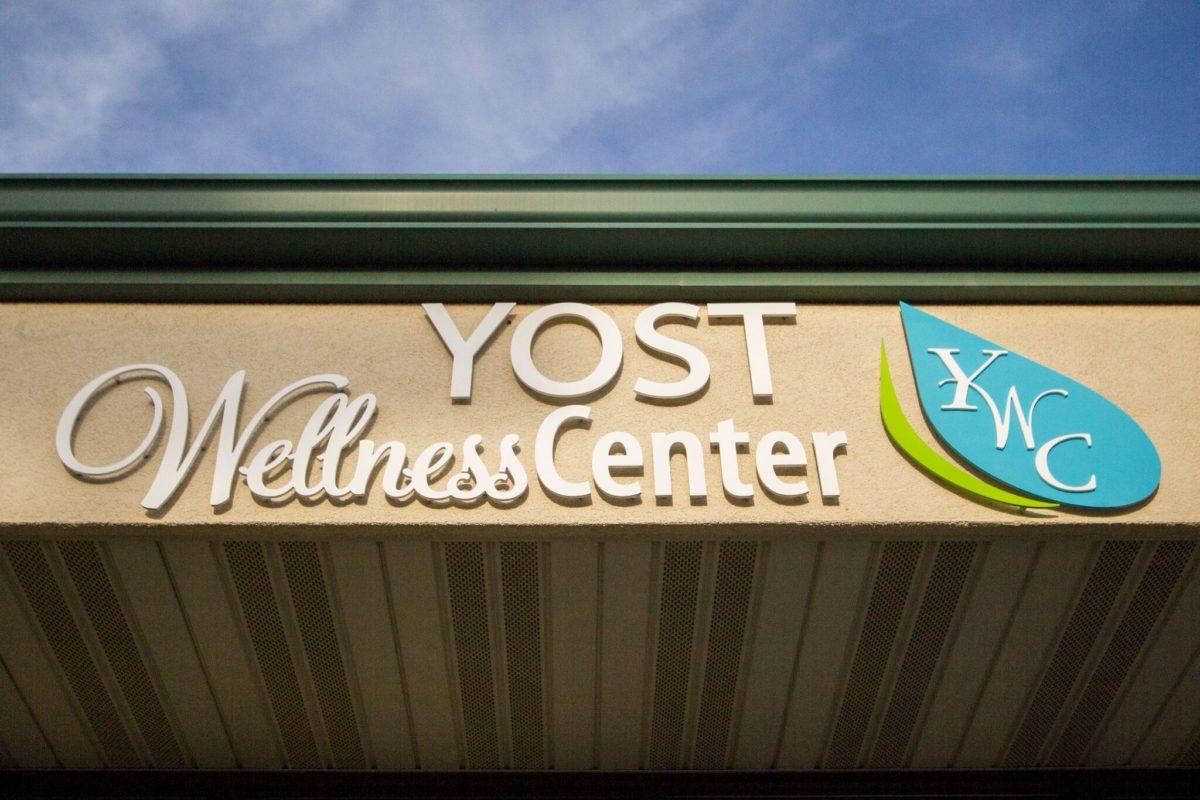 Yost Wellness Center building sign.