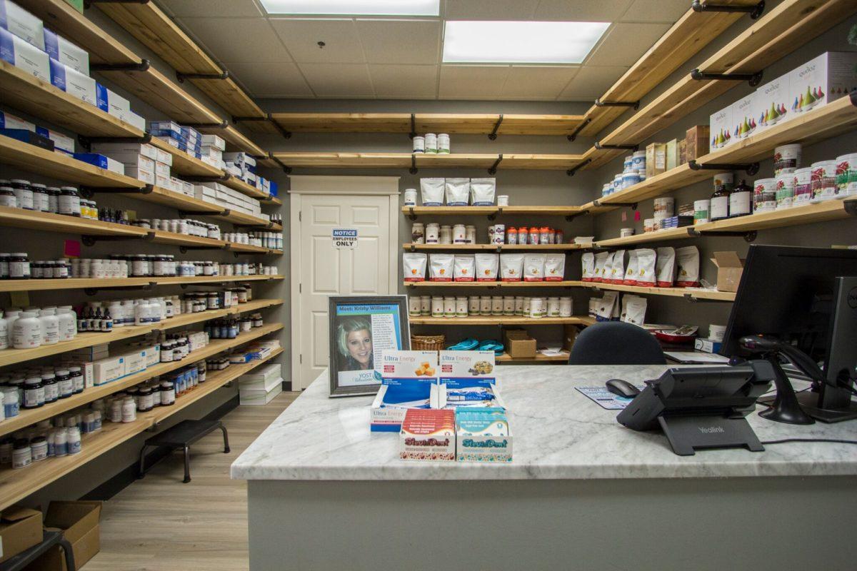 Supplements area.