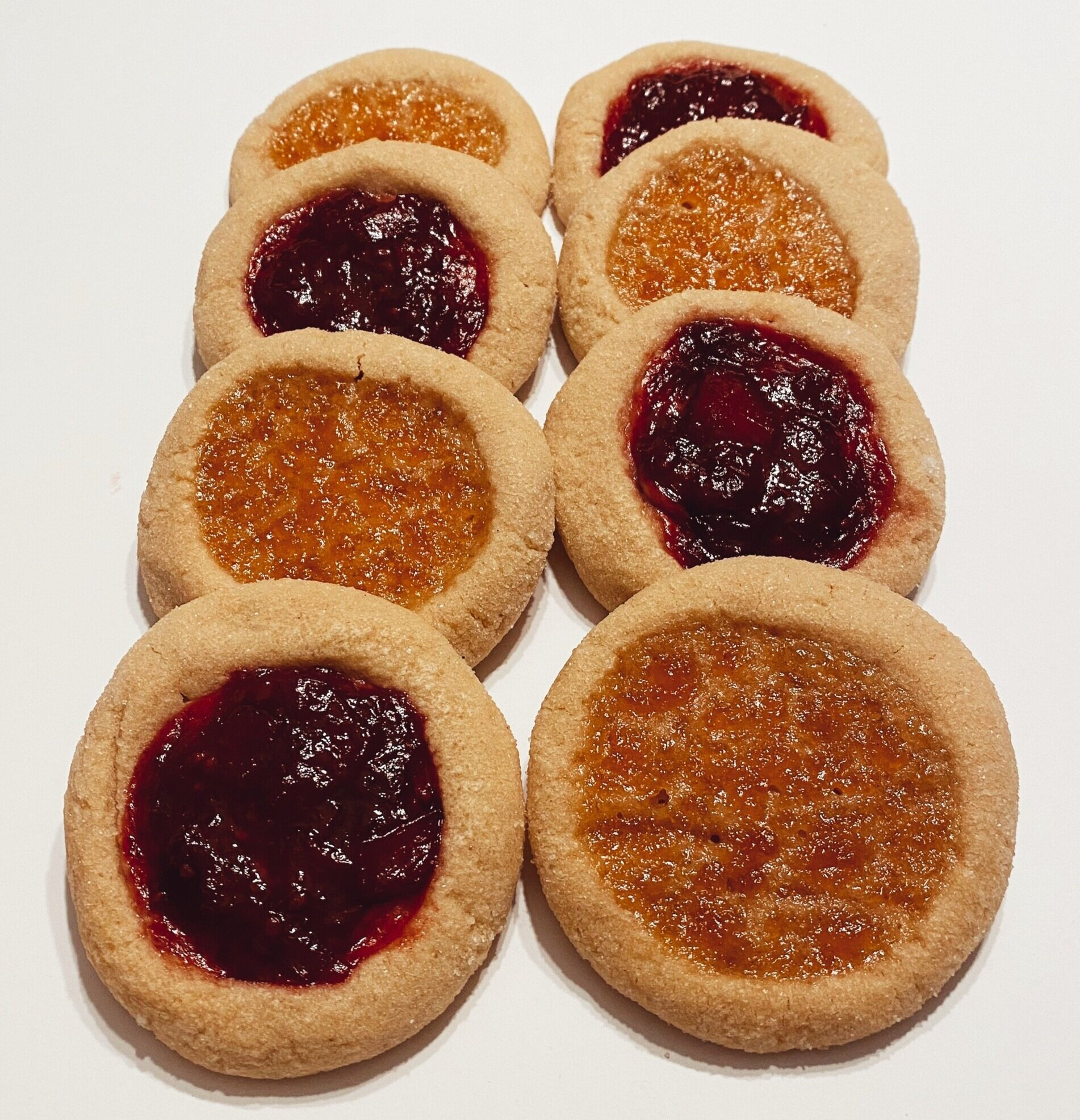Nutty Jam Cookies