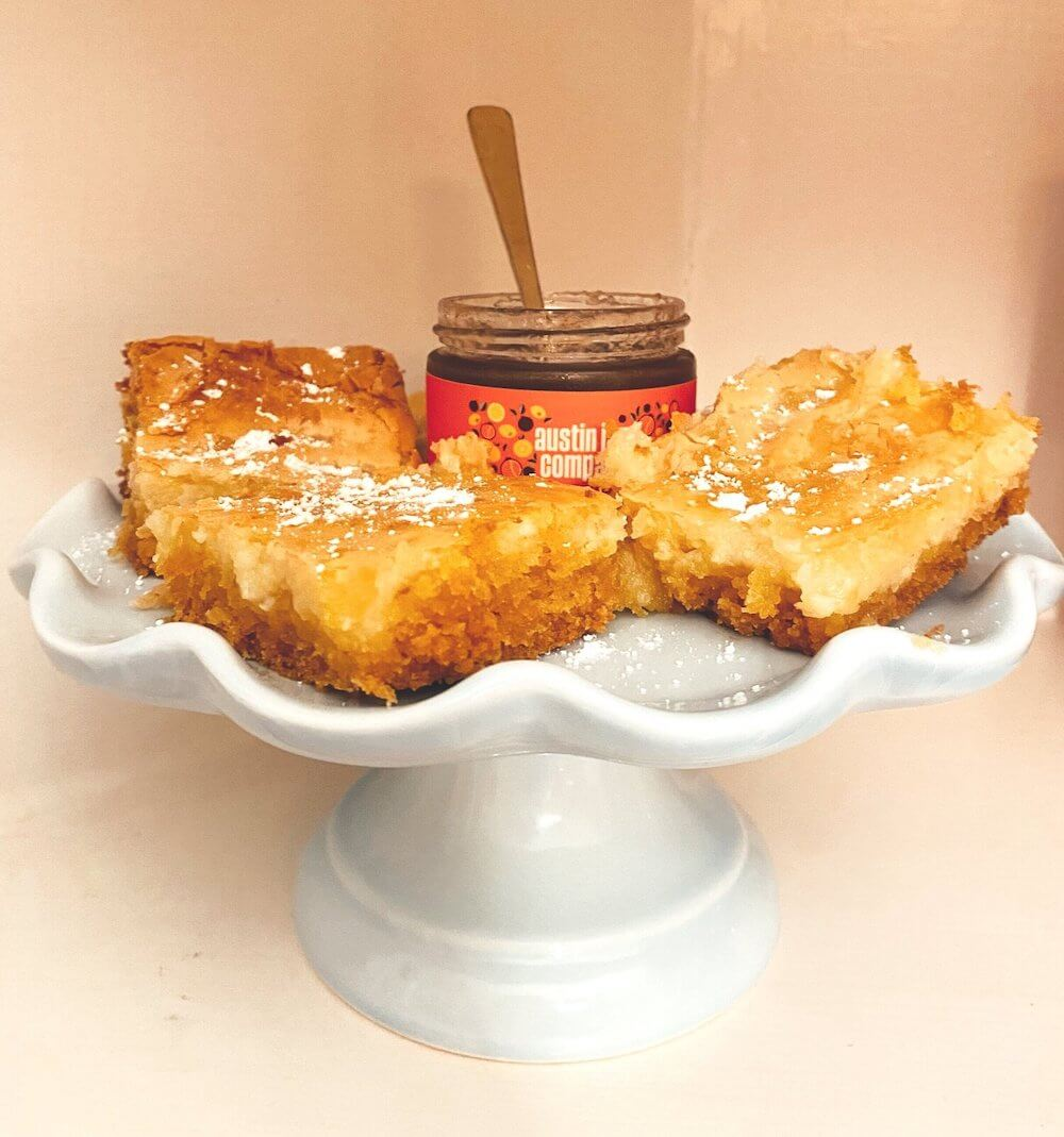 Gooey Butter (and Jam) Cake
