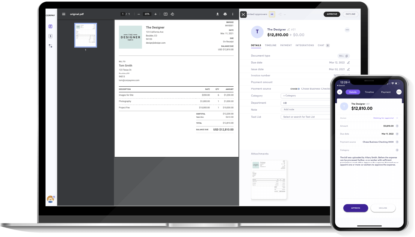 Get easier bookkeeping, payments and more in one complete platform, no subscription fee!