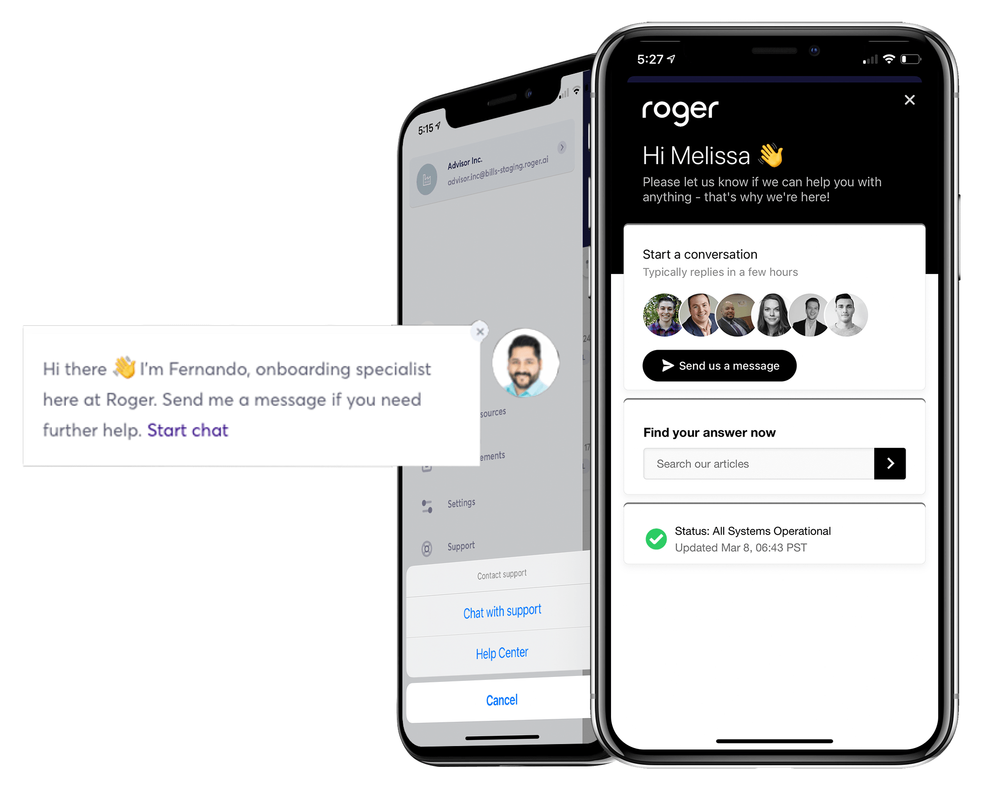 Onboarding and client support