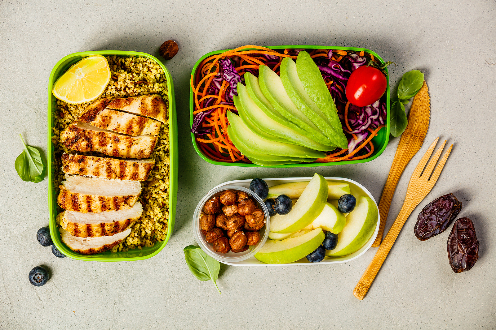 By starting the week off with a list of five dinner options, you can take the guess work out of the evening routine while staying mindful to nutritional needs for you and your family. Utilize a chalkboard, dry erase board, or a kitchen fridge notepad to list out the meal options for the week to keep yourself on track.