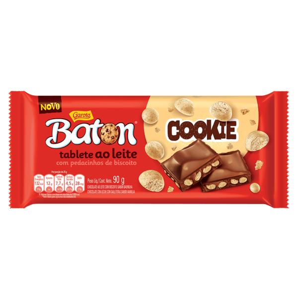 Chocolate GAROTO BATON Cookie Tablete 90g