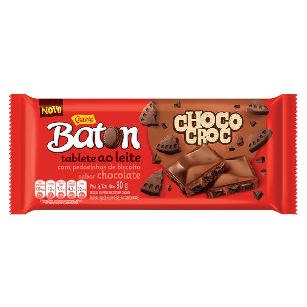 Chocolate GAROTO BATON Choco Croc Tablete 90g