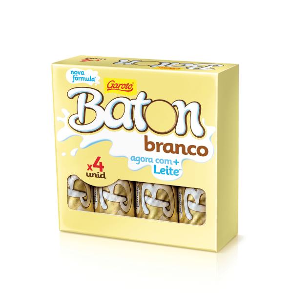 Chocolate GAROTO BATON Branco Pack 64g
