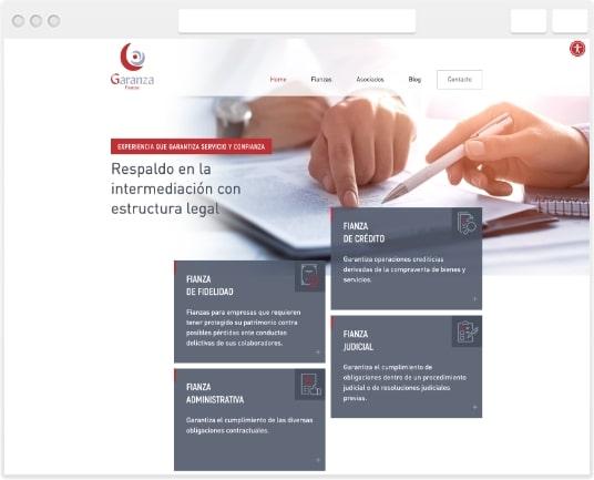 Pagina Web Garanza