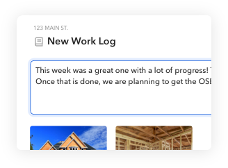 Project chat and messaging in BuildBook