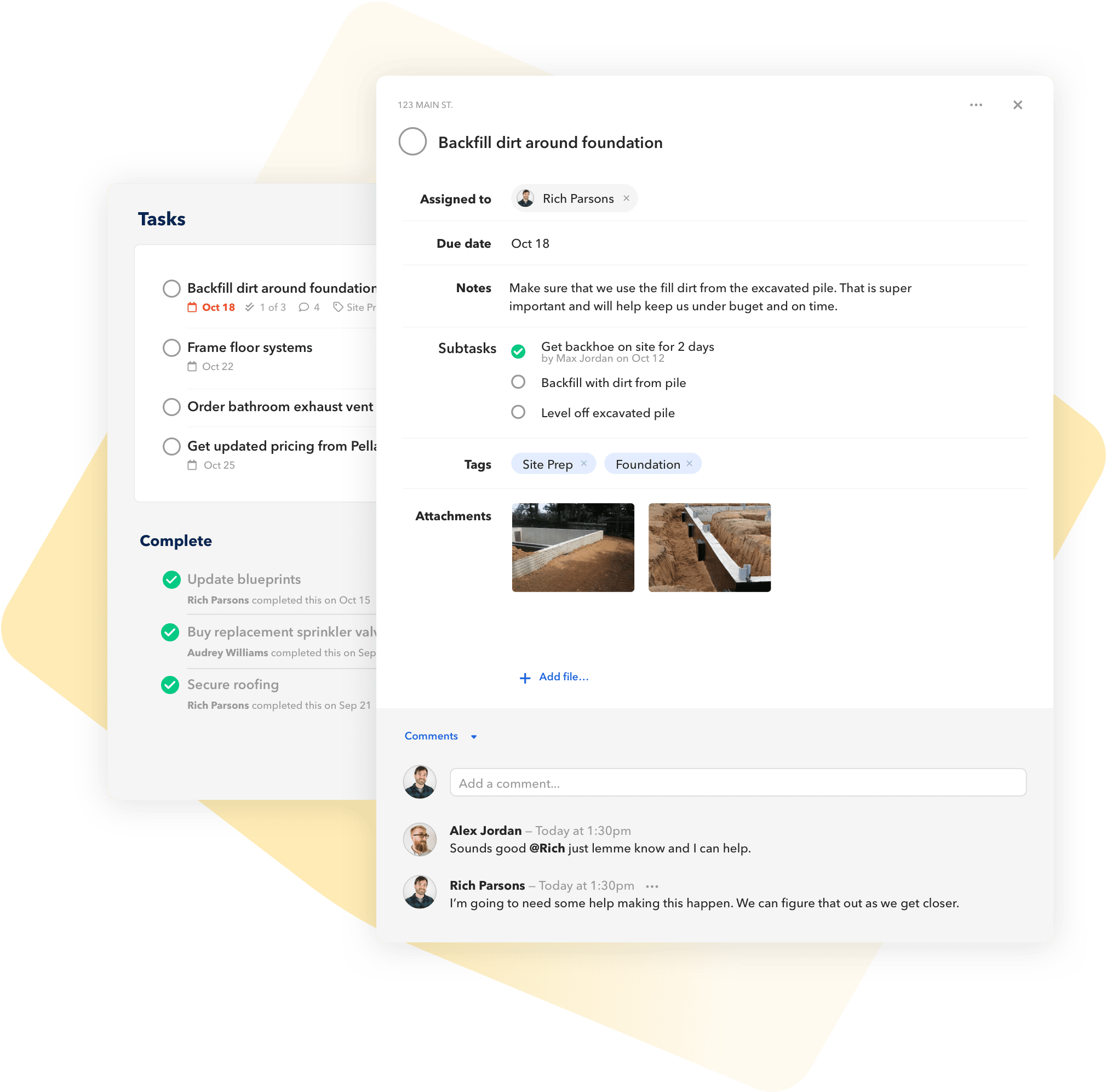 BuildBook project task management