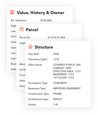 Lead parcel info provided with BuildBook sales tools