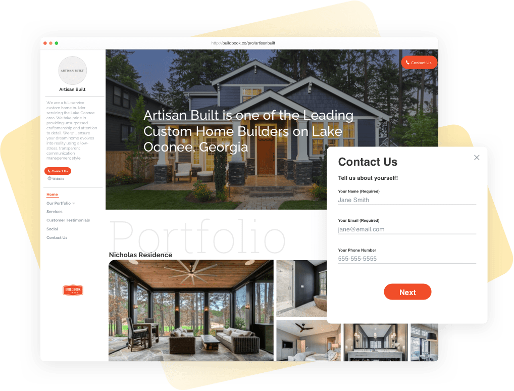 BuildBook Sales and Marketing Tools for Custom Home Builders