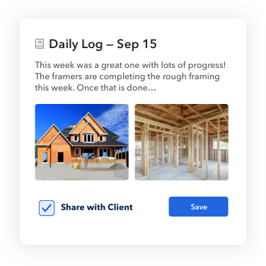 Daily client logs in BuildBook