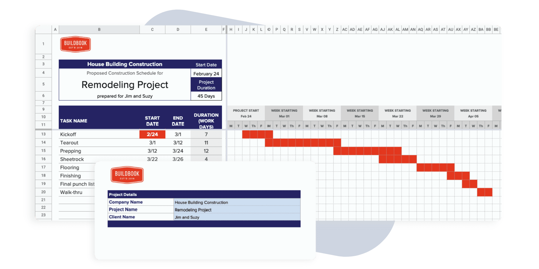 A free gantt chart template for excel or google sheets