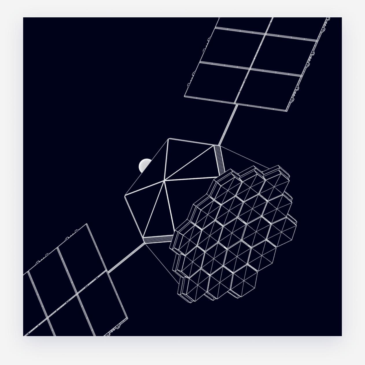 Blueprint of the satellite