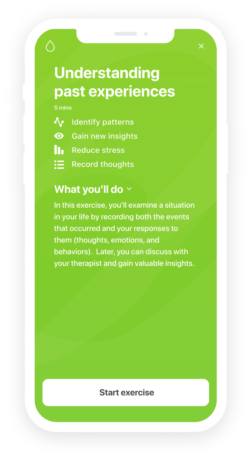 Claim example in the app