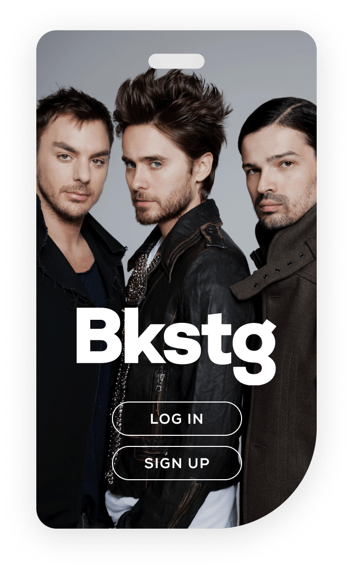 Bkstg Login Screen