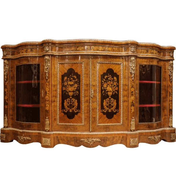 A pair of 19th Century French walnut Credenzas