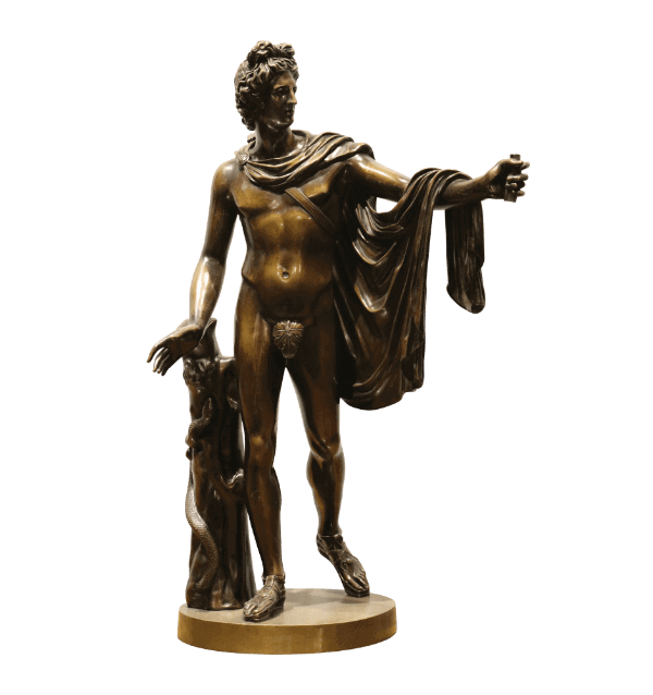 19th century Bronze Statue of Apollo