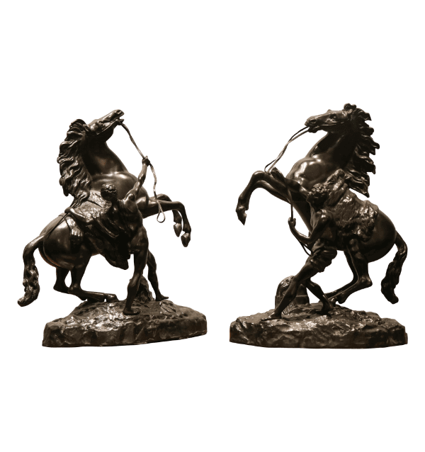 A Pair of 19th century Bronze Marly Horses.