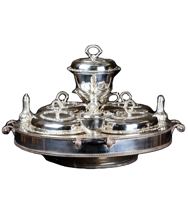 Sheffield Silver Plated Lazy Susan