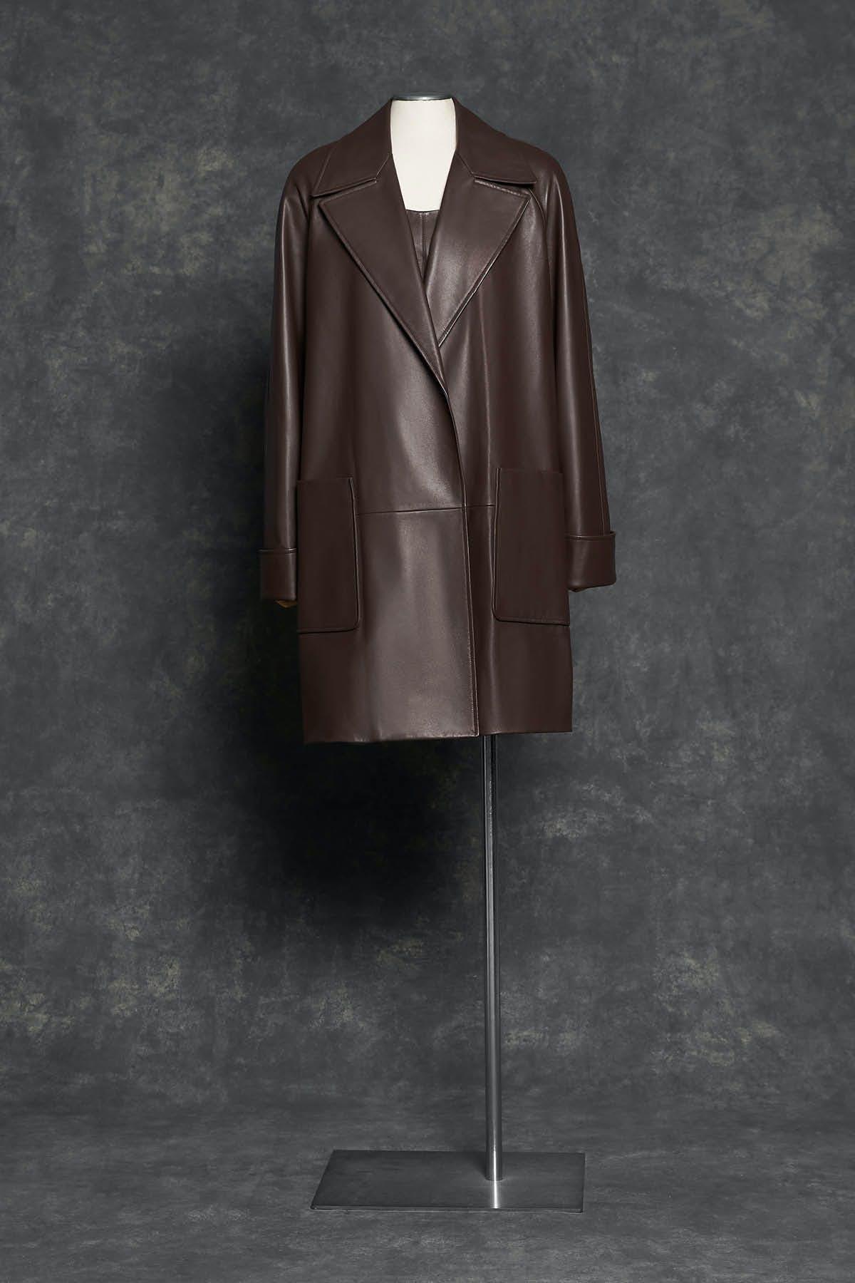 MAHOGANY PLONGÉ COAT AND DRESS