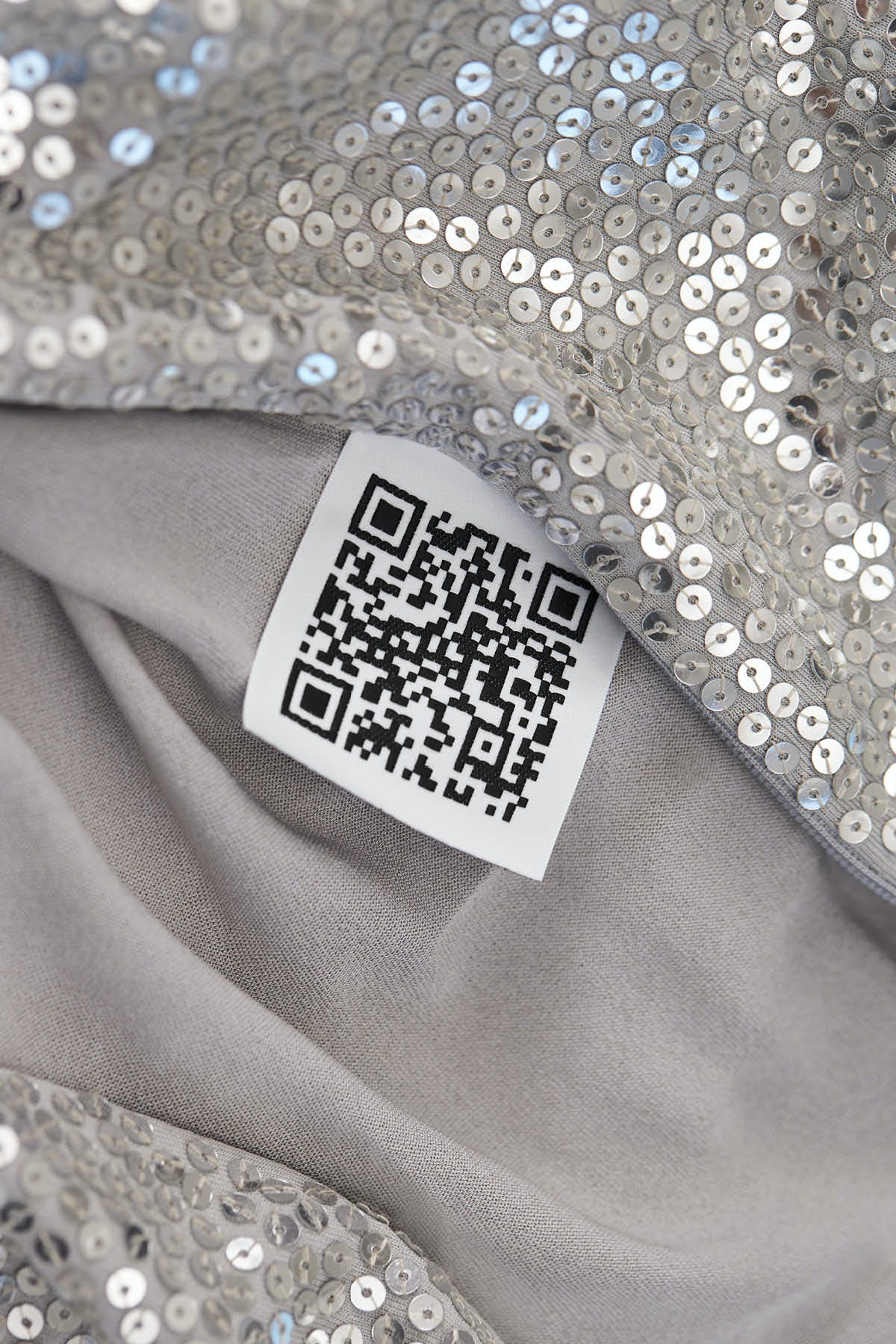 SILVER GOWN WITH PAILLETTE HAND EMBROIDERY