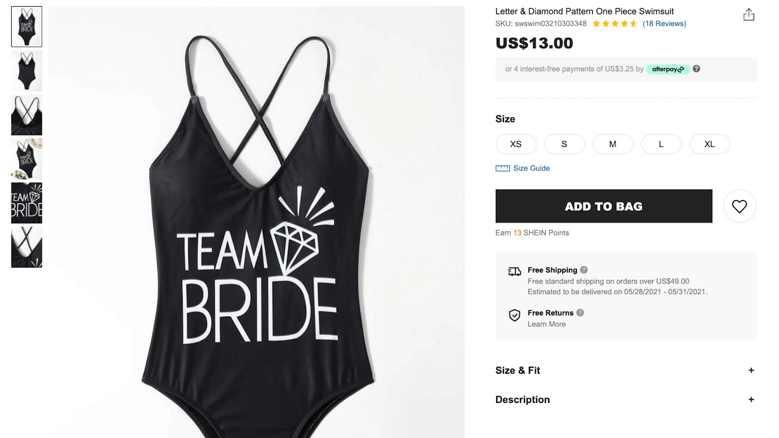 black bachelorette party swimsuits