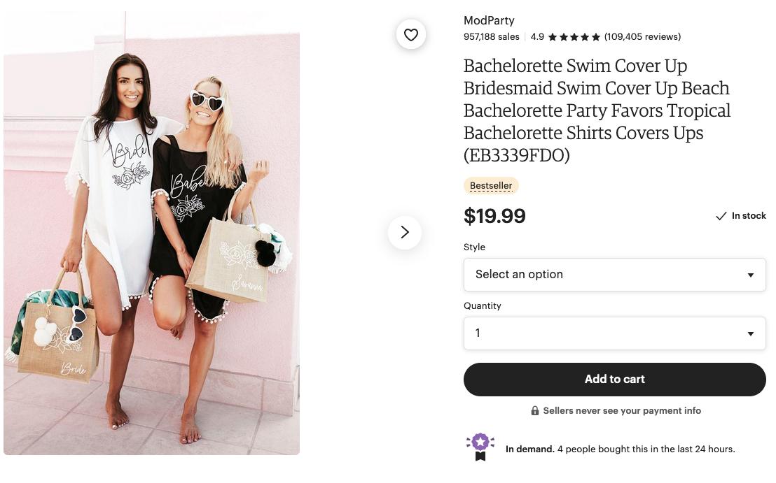 bachelorette swim cover up
