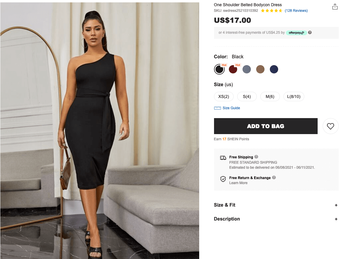 What to wear to a bachelorette party: One shoulder belted bodycon dress