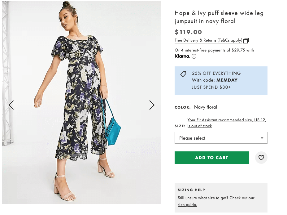 What to wear to a bachelorette party: Hope & Ivy puff sleeve wide leg jumpsuit