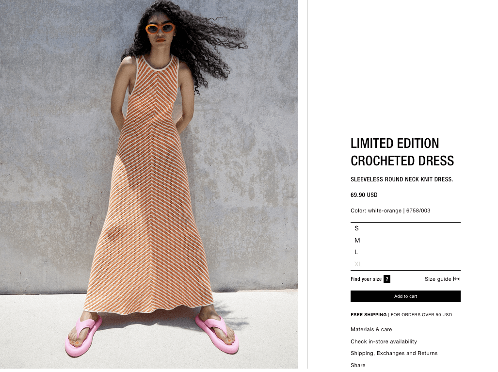 Limited edition crocheted dress