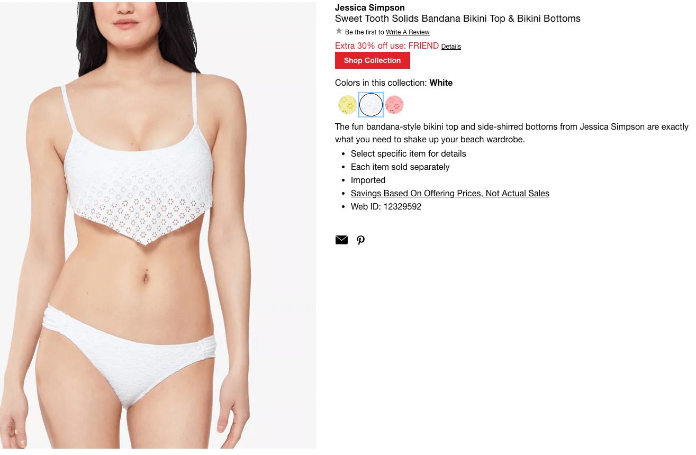 bride swimsuit: Sweet Tooth Solids bandana bikini top and bikini bottoms