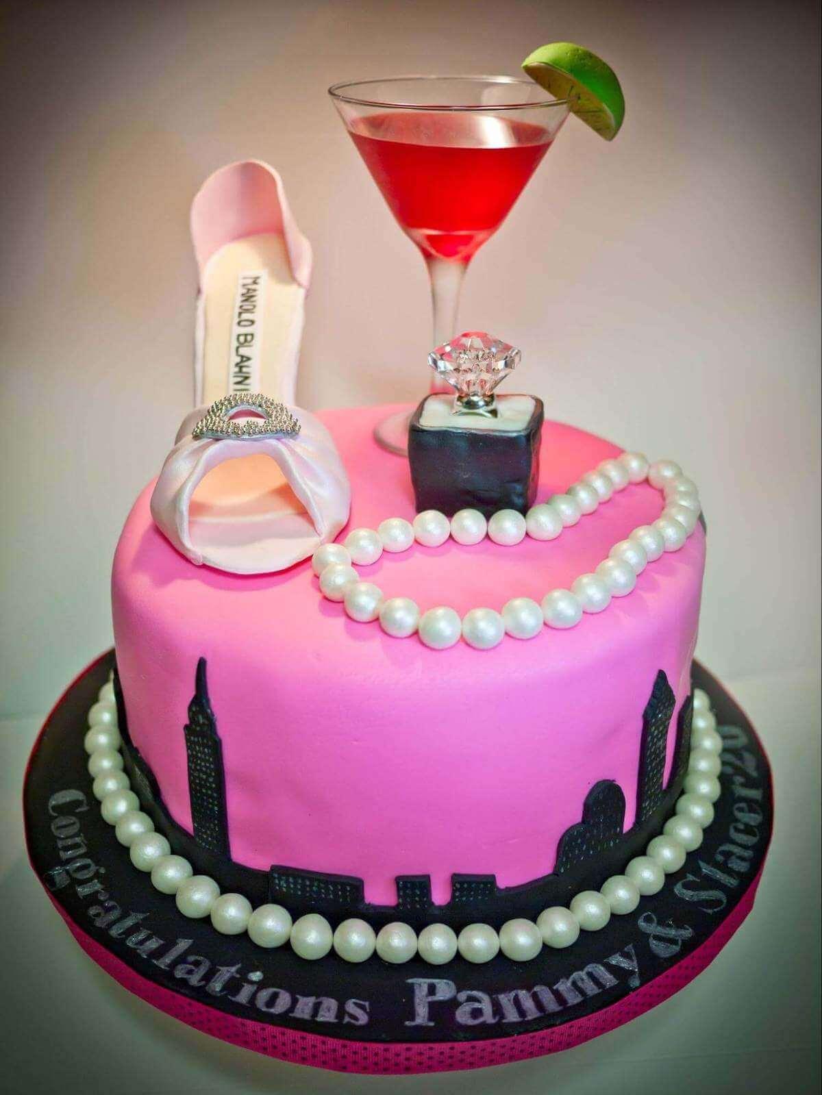 bachelorette cakes ideas: Martini Cake