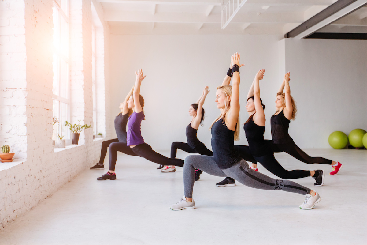 Yoga class with all women