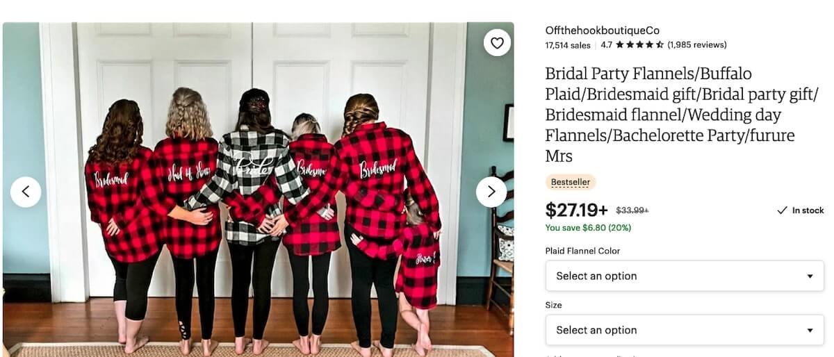 Bachelorette party shirts: Bridal Party Flannels