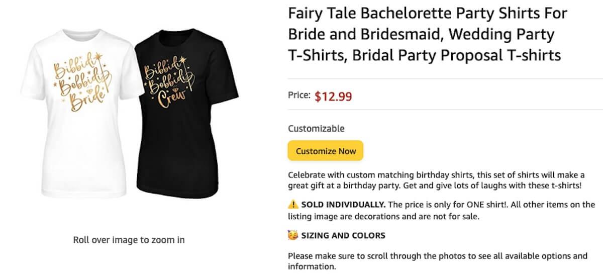 Bachelorette party shirts: Fairy Tale Bachelorette Party Shirts