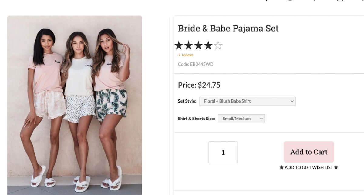 Bride and Babe Pajama Set