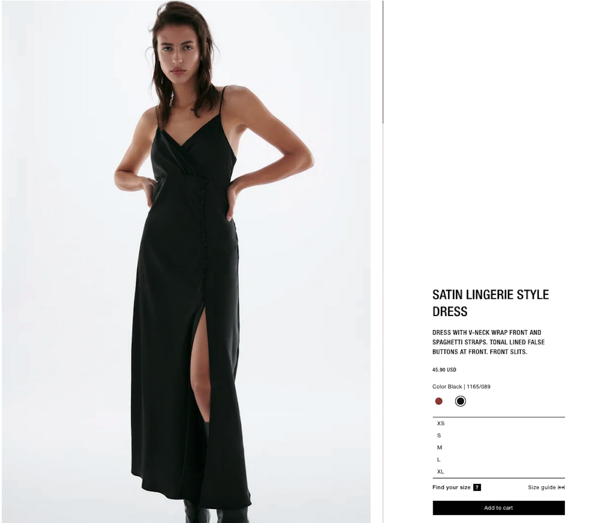 Bachelorette party outfits: Satin Lingerie-Style Dress