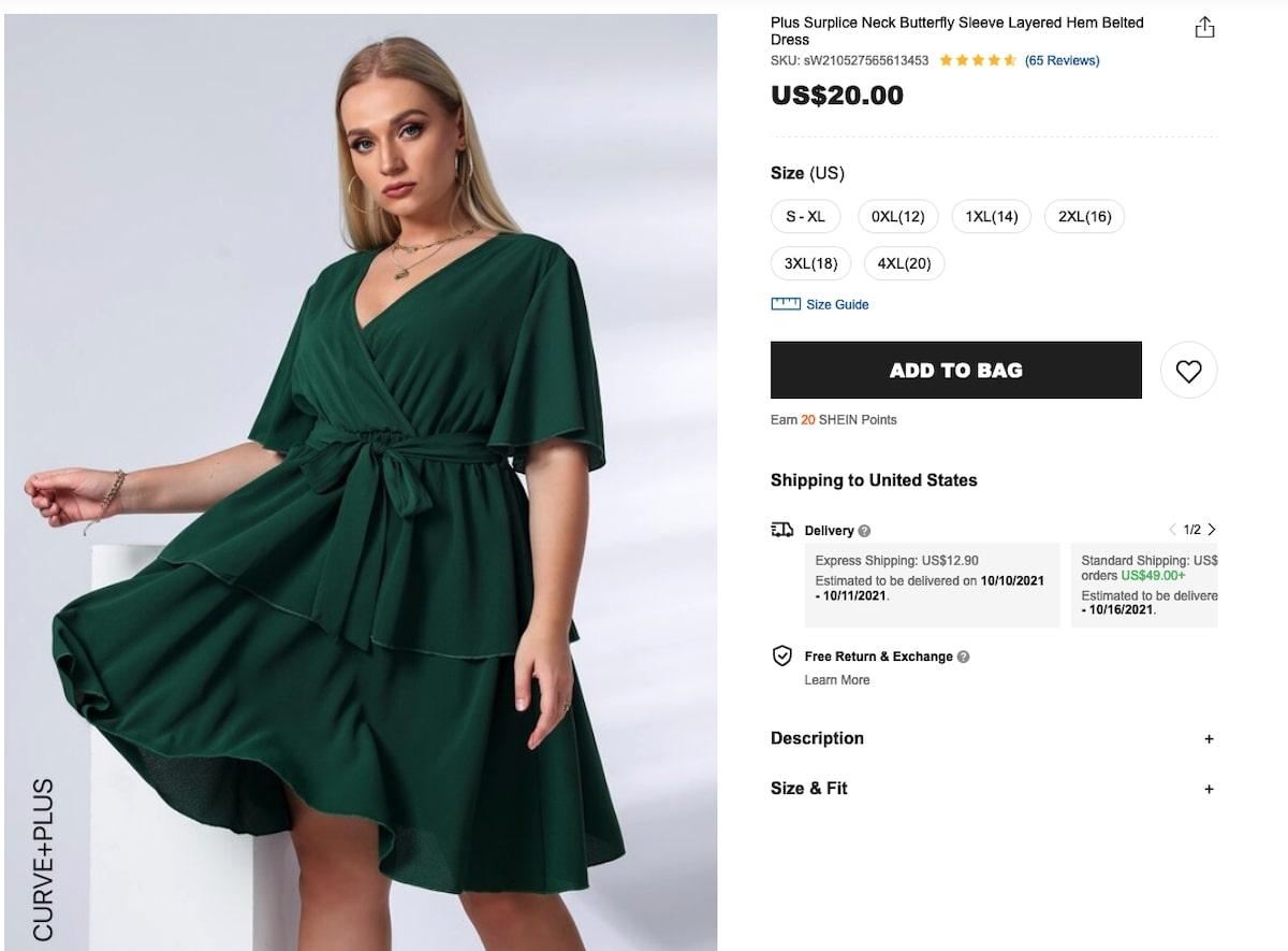 Surplice Neck Self-Tie A-Line Dress