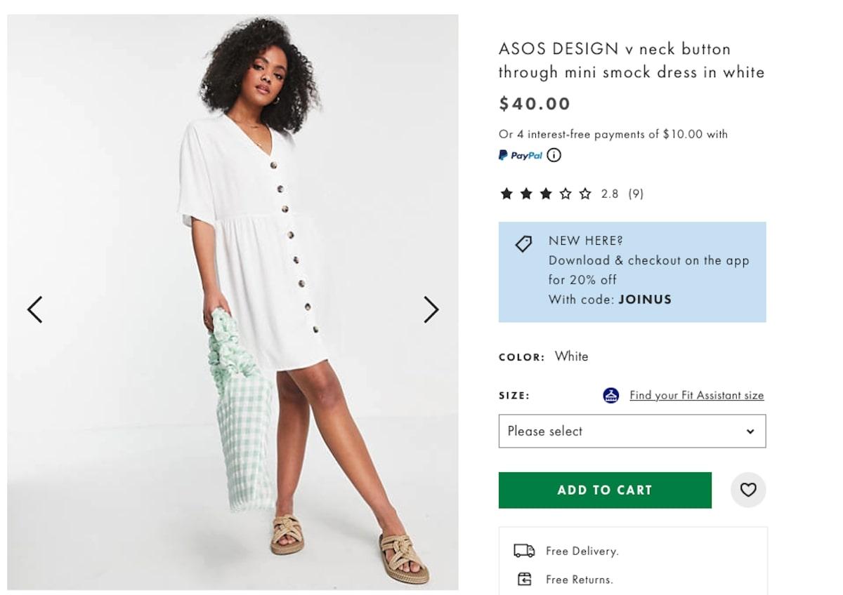 Bachelorette party outfits: Button-Through Mini Smock Dress