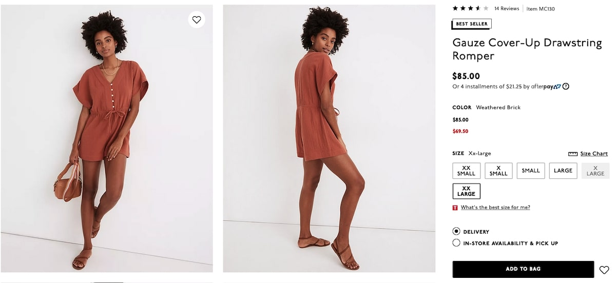 Bachelorette party outfits: Gauze Cover-Up Drawstring Romper