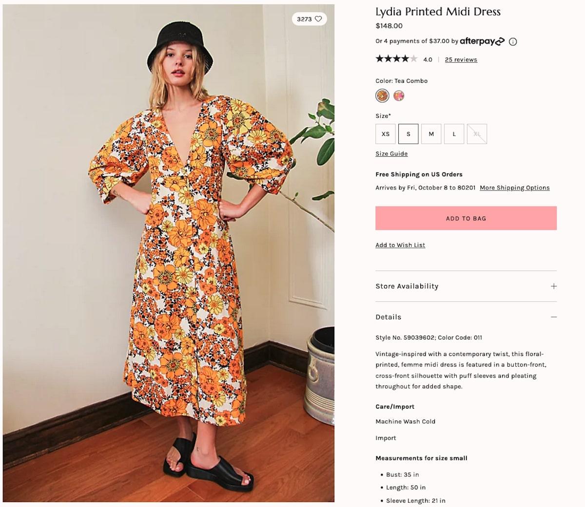Bachelorette party outfits:  Lydia Printed Midi Dress