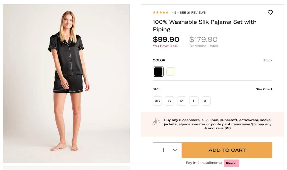 Bachelorette party outfits: Washable Silk Pajama Set
