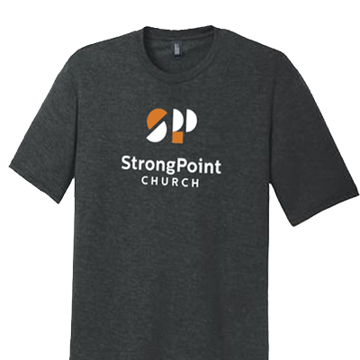 strongpoint church branded t-shirt