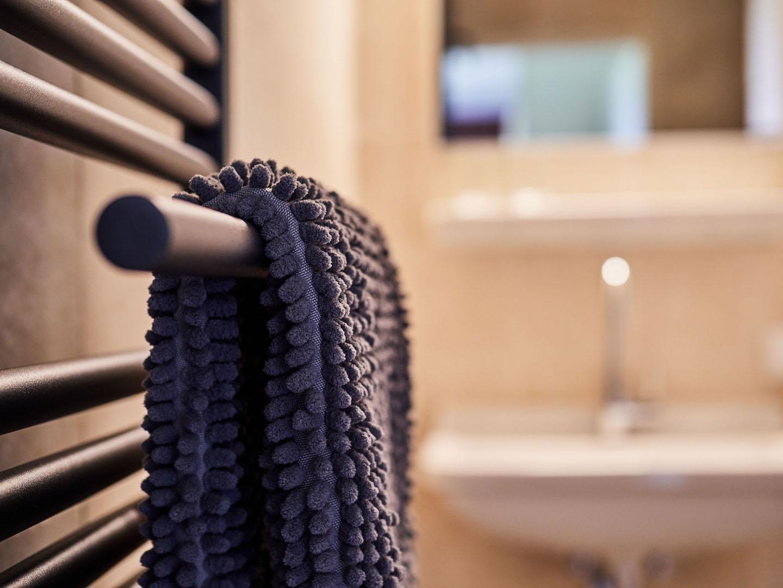 Het handdoekje hangt klaar